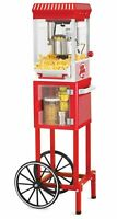 """Vintage Look POPCORN MACHINE Cart Tall 48"""" Large 2.5 oz Stainless Steel Kettle"""