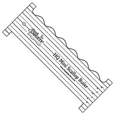 "Handi Quilter HQ Mini Scallop Ruler Template 8""x3"" Mid-Arm Longarm Handiquilter"