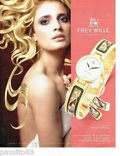 PUBLICITE ADVERTISING 116  2006  Frey Wille  joaillier hommage  A. Mucha