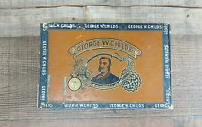 Old Vintage 1896 George W. Childs Wood Cigar Box 2 for 5 cents