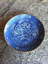 Antique Chinese Porcelaine Bleu et Blanc plaque avec fleurs Dragon