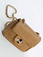 Abendtasche Umhängetasche Dinner Bag Schultertasche Pochette Cognac Flap Bag 583