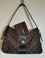 Fossil Tote bag Canvas / leather with matching purse Brown small