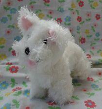"GYMBOREE WHITE PLUSH SCOTTY DOG, Plaid Tag 6.5"" high 7"" nose to back"
