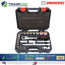 "Crescent PRO Socket Set 25pc 1/2"" Drive Quick Release Metric Heavy Duty Mechanic"