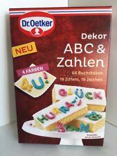 Dr Oetker 4-Color Comestibles letras y números para decoración de pasteles Caja de 66+19+19