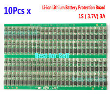 10pcs 3.7v 3a Li-ion litio Battery 18650 Charger BMS Cell Protection PCB Board