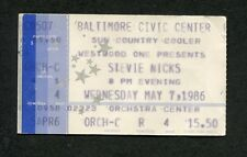 Original 1986 Stevie Nicks concert ticket stub Baltimore Rock A Little