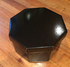 hat box small strong gloss black storage cake box with acid free tissue paper