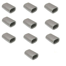 10 Pieces 5/32 Inch Stainless Steel 316 Marine Wire Rope Oval Crimping Sleeves