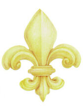 Gold Fleur di Lis 25 Wallies 1 Package Wallpaper Cut Outs Decor Decals Stickers