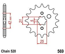 KR Ritzel 17 Z Teilung 520 YAMAHA XV 250 V-Star 09-10 New... front sprocket