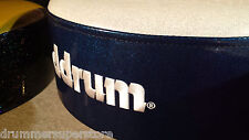 dDrum Drum Throne Mercury FAT   Blue Sparkle Sides w/White Top Seat    MFAT WB