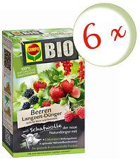 Sparset: 6 x COMPO BIO Beeren Langzeit-Dünger mit Schafwolle, 2 kg