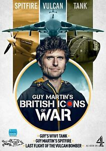 Guy Martin's British Icons of War (Spitfire, Vulcan Bomber & WW1 Tank) (DVD)