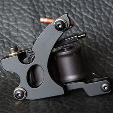 Pro Casting Carbon Steel 10 Coil Shader Tattoo Machine Gun for Body Art Black