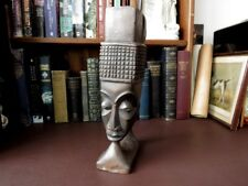 Antique African Tribal Art - Woman/Elephant Head Kuba Cup - Wooden Tribal Art