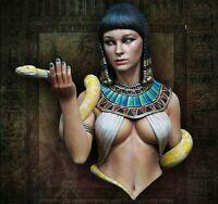 1/12 Bust Resin Figure Model Kit Cleopatra Egyptian Beauty Queen Snake Unpainted