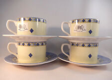 Royal Doulton Carmina Cups and Saucers Lot of 4 Flat Cups Fine China