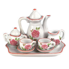 New MInature Pink Rose Tea Set!  Perfect size for Madame Alexander Dolls!
