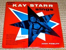 KAY STARR Sings - Early 1950s Allegro Elite 4101, 10-inch LP