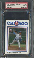 New listing 1987 Cubs David Berg #31 Greg Maddux RC Rookie HOF PSA 9 MINT