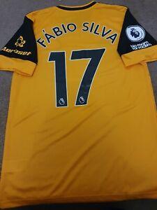 Match Worn/issue Wolves Fabio Silva 2020/21 Home Shirt