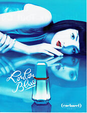 Publicité Advertising 078  1996   parfum  Loulou Blue Cacharel