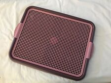 Pets Indoor Dog Potty Puppies Small Dogs Cats Puppy Pad Holder Tray Pink Purple