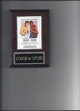JULIO CESAR CHAVEZ vs MELDRICK TAYLOR  POSTER PHOTO PLAQUE BOXING