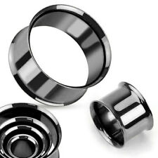 Stahl Flesh Tunnel Ohr Plug Piercing Double Flared Hollow Edelstahl Tube 2-51 mm