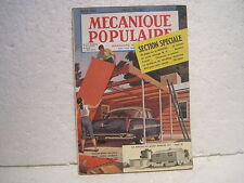 "MAGAZINE""MECANIQUE POPULAIRE"" mars 1956 n°118 section speciale"