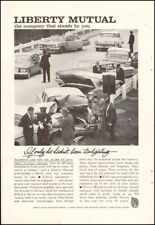 1950's Vintage ad for Liberty Mutual`photo retro cars crashed    (112017)