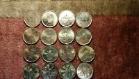 Canada $1 Loon Dollars Commemorative Rare Collection Of 16 Mint Beauty Coins.