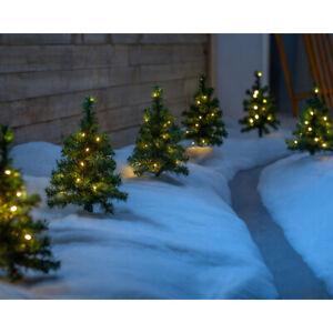 Pre-Lit Christmas Tree Pathway Light Decorations Warm White LED Lights Set of 6