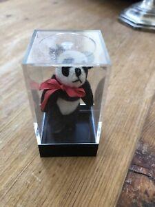"World Of Miniature Bears Dollhouse Miniature 2.5"" Panda Bear With Display Case"