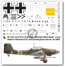 Peddinghaus 1/72 Ju 87 G-2 Markings Hans-Ulrich Rudel Stab III./SG 2 1945 1673