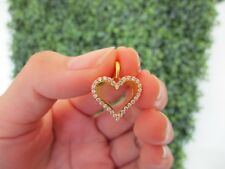 .45 Carat Diamond Yellow Gold Heart Pendant 10k codePx04 sepvergara