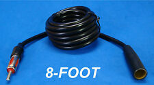 """96"""" 8' FOOT AUTO ANTENNA EXTENSION CORD ANT MALE FEMALE CAR AM FM ADAPTER CABLE"""