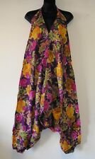 ** Fair Trade * Hippy Boho Rayon Halterneck Ali Baba Harem Dress Free Size (HD3)