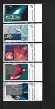 West Germany Space 1999 MNH complete set of 5 semi postal stamps