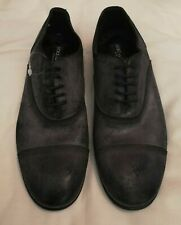 Dolce And Gabbana Washed Leather Suede Oxford Lace-up Shoe Black uk 8 eu 42
