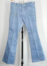 "Vintage Sears Light Blue Corduroy Flare Pants Talon Zipper 34""X33"""