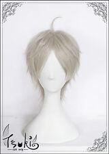 Haikyuu Sugawara Koushi Straight 25cm Short Grey Anime Full Cosplay Wigs