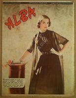 Rivista moda abiti - Alba - 24 Luglio 1952 - Anno XXX n° 30 - Fashion Costume