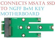 NGFF M.2 B + M Key to mSATA Mini SATA 3.0 SSD Adapter Card 2230 2242 2260/80