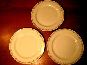 VINTAGE LIMOGES ELITE WORKS 3 DINNER PLATES BAWO/DOTTER SHAMROCKS & ROSES c1920s