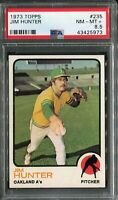 1973 Topps #235 Jim Hunter PSA 8.5 NM-MT+