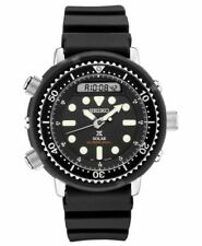 Seiko Prospex SNJ025 47.8mm Black Stainless Steel Case Black Silicone Strap