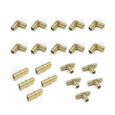 "(20PCS)1/2"" BRASS PEX CRIMP FITTINGS (10 ELBOWS, 5 COUPLINGS5 TEES)  LEAD FREE"